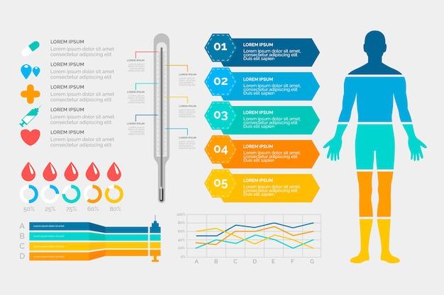 Medizinischer infografik-stil