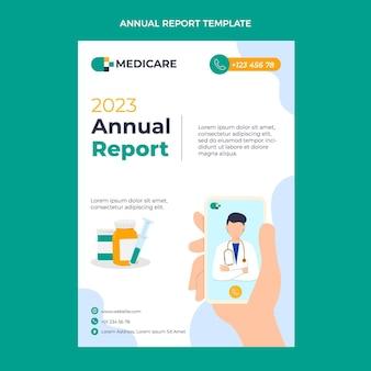 Medizinischer jahresbericht im flachen design