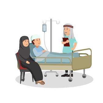 Medizinischer kontrollpatient durch arabischen doktor