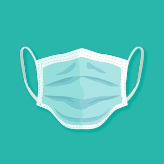 Medizinischer maskenstil des flachen designs