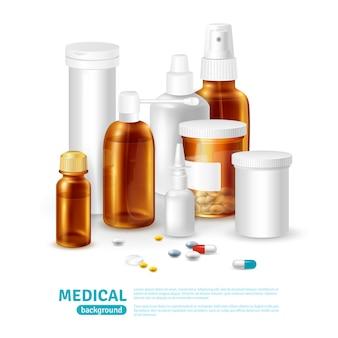 Medizinischer realistischer hintergrund