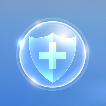 Medizinischer schutzschild gegen viren oder bakterien