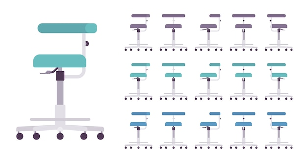 Medizinischer stuhl mit rädern