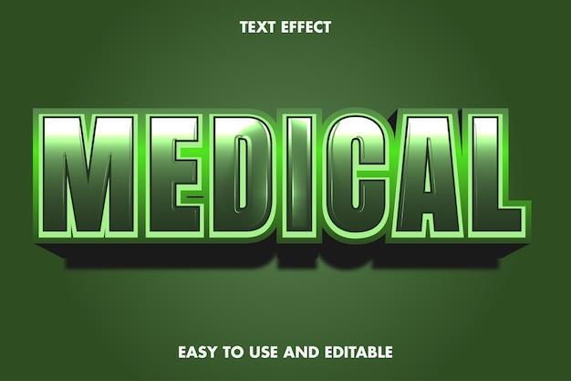 Medizinischer texteffekt. bearbeitbarer schriftstil.