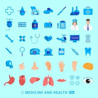 Medizinischer und gesunder vektor des illustrationskonzeptes