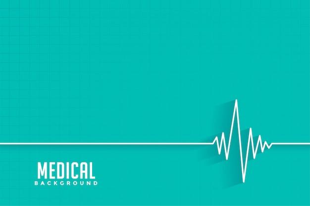 Medizinischer und medizinischer hintergrund des cardio-herzschlags