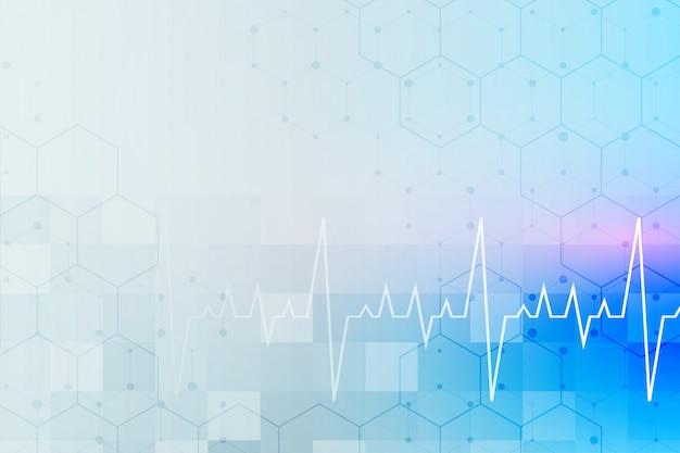 Medizinischer und medizinischer hintergrund mit textraum