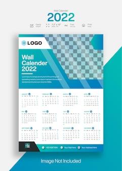 Medizinischer wandkalender 2022 vorlage für das neue jahr modern mit kreativem design