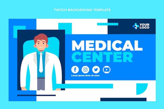Medizinischer zuckender hintergrund des flachen designs