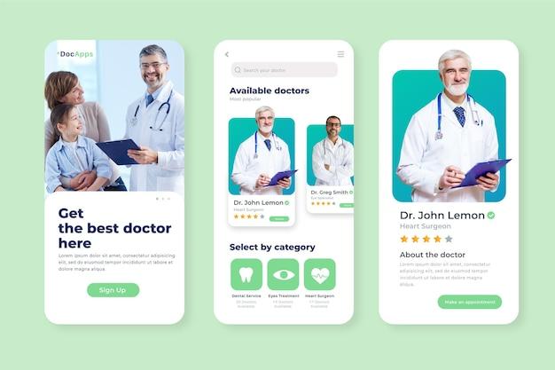 Medizinisches buchungs-app-konzept