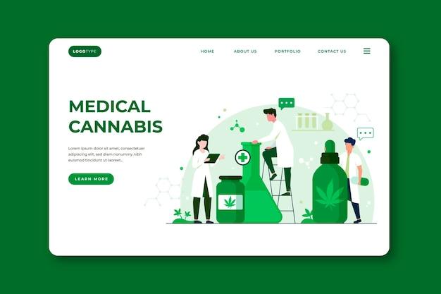 Medizinisches cannabis - landingpage