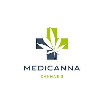 Medizinisches cannabis-logo hanfblatt-symbol herunterladen