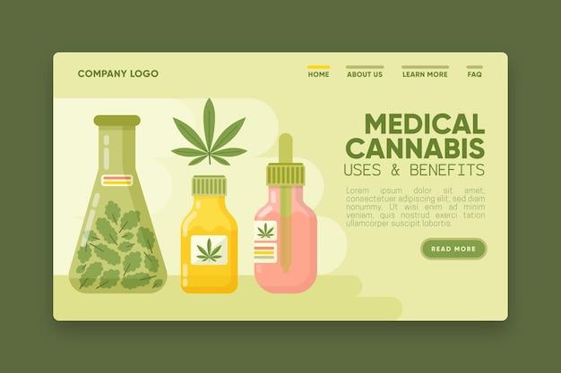 Medizinisches cannabis verwendet eine webvorlage