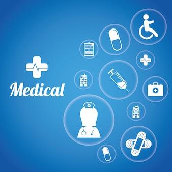 Medizinisches design. birdcages-symbol. dekorationsgegenstand. vintage-konzept, vektordiagramm