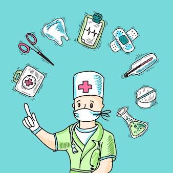 Medizinisches design-konzept