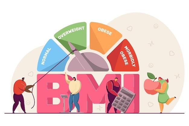 Medizinisches diagramm des body mass index