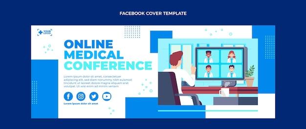 Medizinisches facebook-cover im flachen design