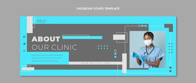 Medizinisches facebook-cover im flachen stil