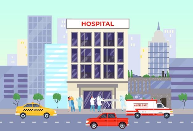 Medizinisches gebäude für die gesundheit der pflege