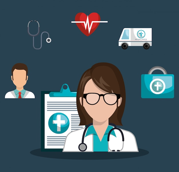 Medizinisches gesundheitsdesign
