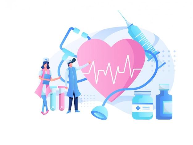 Medizinisches illustrationsteam und gesundheitsberatung
