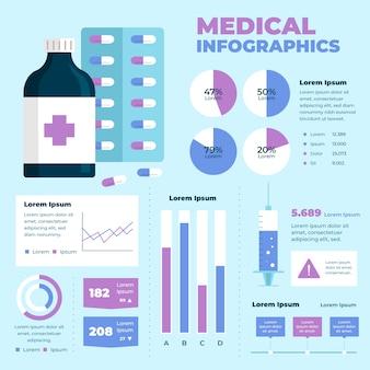 Medizinisches infografik-design