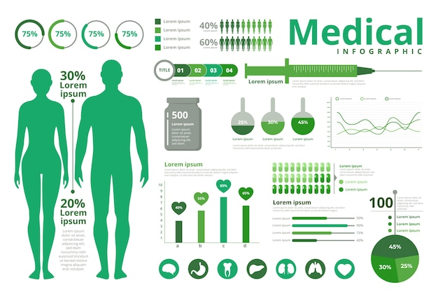 Medizinisches infografik-thema