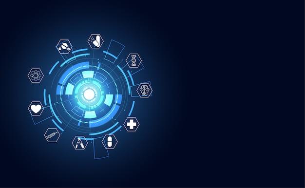 Medizinisches innovationshintergrunddesign der abstrakten gesundheit