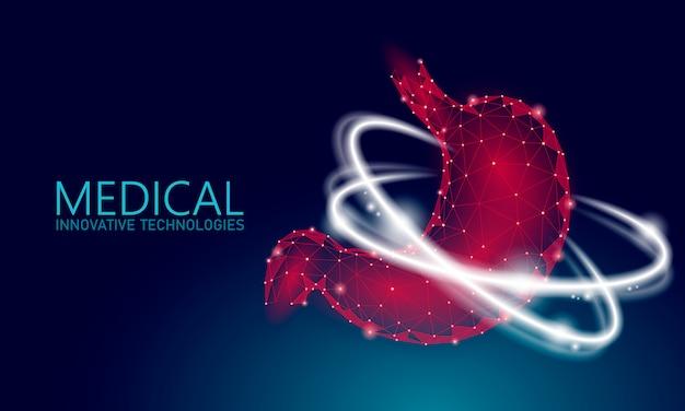 Medizinisches konzept des menschlichen gesunden magenwiederherstellungssystems.