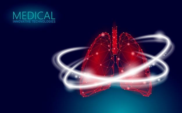Medizinisches konzept zur wiederherstellung der menschlichen lunge 3d im gesundheitswesen.