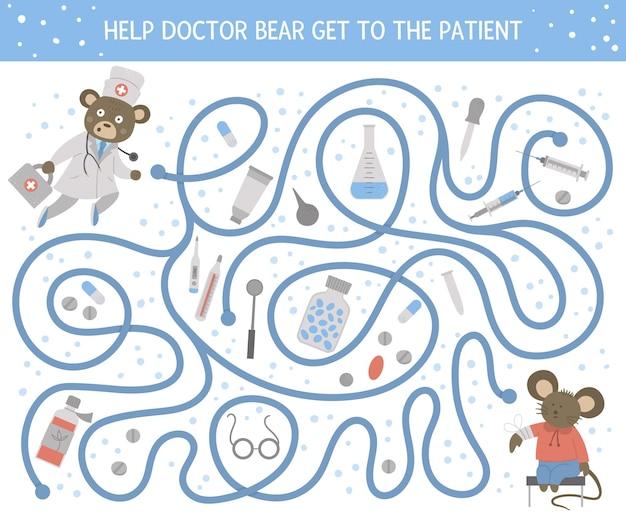 Medizinisches labyrinth für kinder