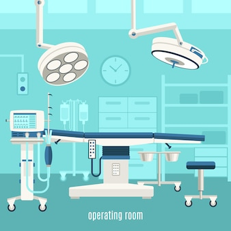 Medizinisches operationsraumplakat
