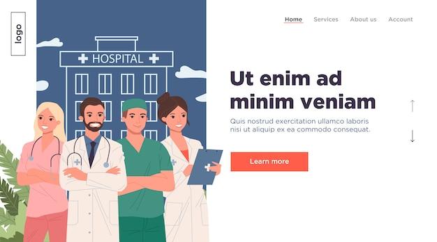 Medizinisches personal des krankenhauses