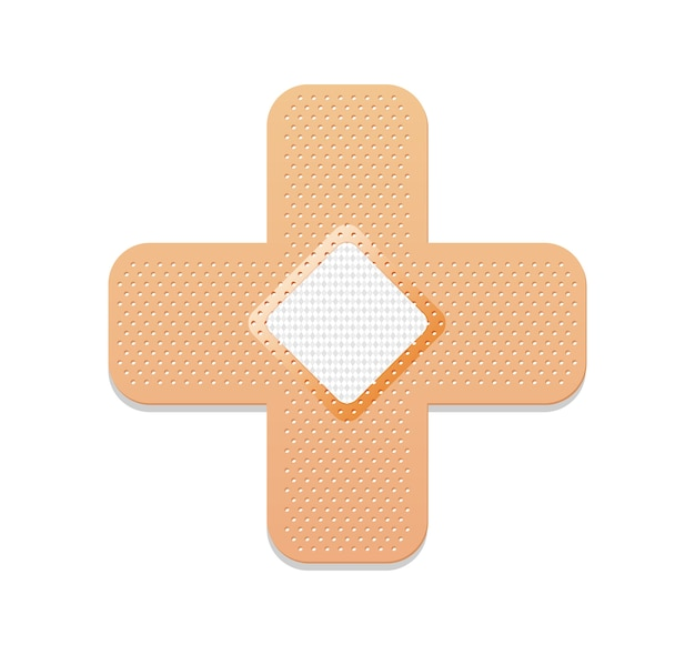 Medizinisches pflaster. klebeband oder heftpflaster.