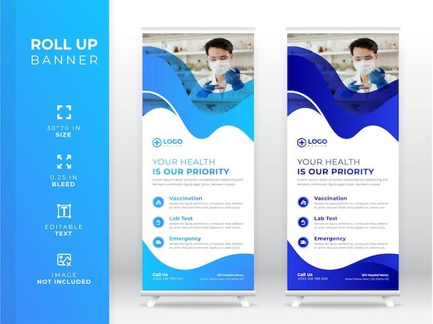 Medizinisches roll-up-banner, standee-banner premium