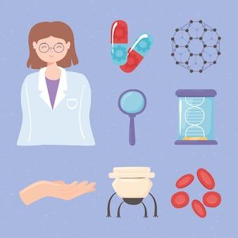 Medizinisches set für nanotechnologie