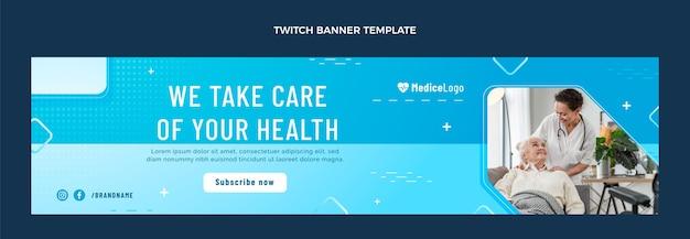 Medizinisches twitch-banner mit farbverlauf