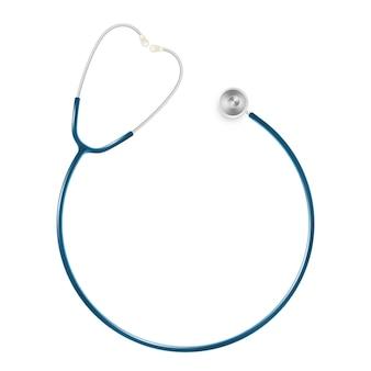 Medizinisches und gesundheitskonzept, arztstethoskop lokalisiert auf weißem hintergrund.