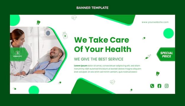 Medizinisches verkaufsbanner im flachen design