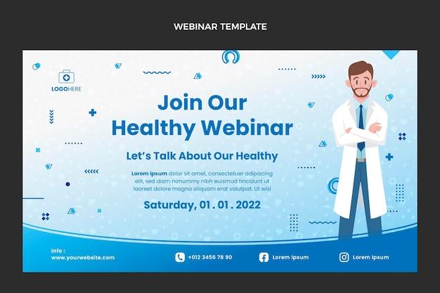 Medizinisches webinar mit flachem design
