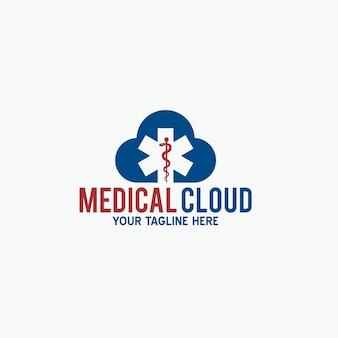 Medizinisches wolkenlogo