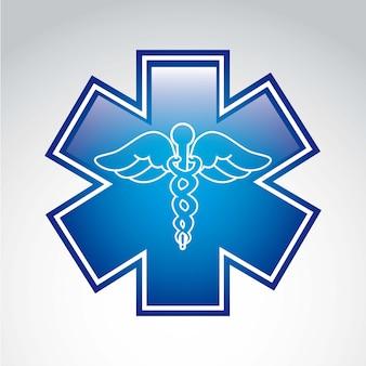Medizinisches zeichen über grauem hintergrund vektor-illustration