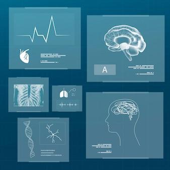 Medizintechnik-set für gesundheit und wellness
