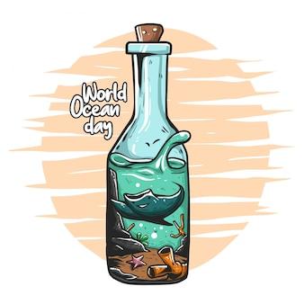 meer auf der flasche, weltozean tag