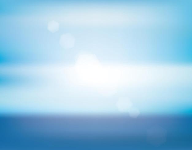 Meer blure auf weißem hintergrund schöne sommerlandschaft