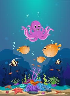 Meeresbiotope und die schönheit der korallenriffe