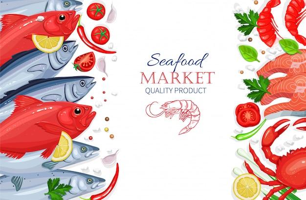Meeresfrüchte. gesundes lebensmittelkochkonzept.