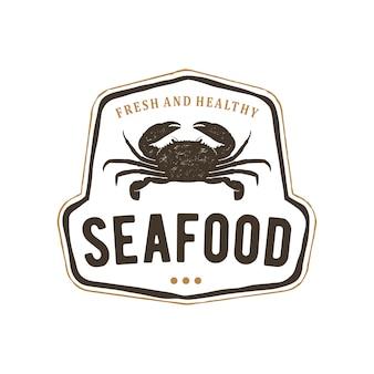 Meeresfrüchte logo vintage