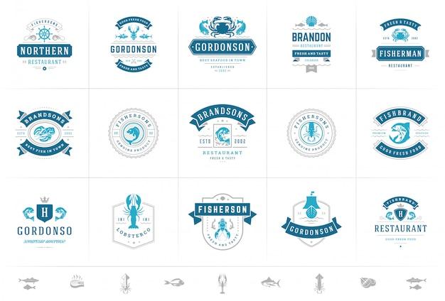Meeresfrüchte-logos