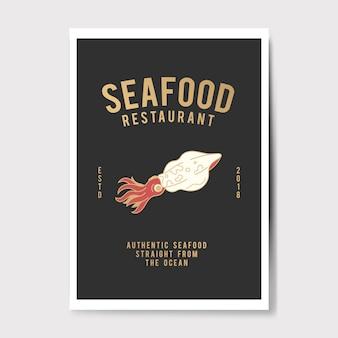 Meeresfrüchte restaurant logo abbildung